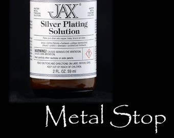 Jax Instant Silver Plating Solution - 2oz magical silver plating in a bottle - no heat required