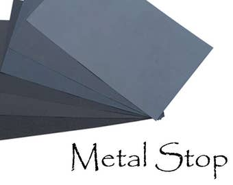 "Wet-or-Dry Fine Grit Sandpaper 9"" x 11"" sheets - Choose 180, 240, 320, 400, 600, 800, 1200, 2000, 2500 & 3,000 grit jewelers sandpaper"