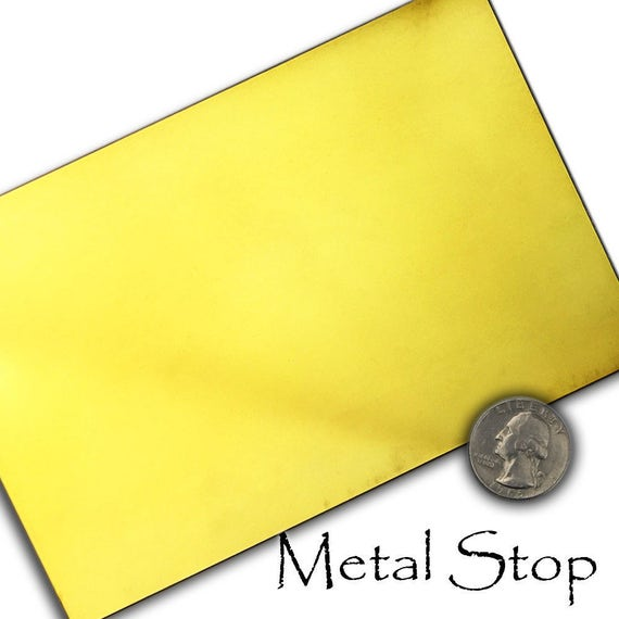 """Brass Sheet Plate .032/"""" 20 gauge 2/"""" x 48/"""""""