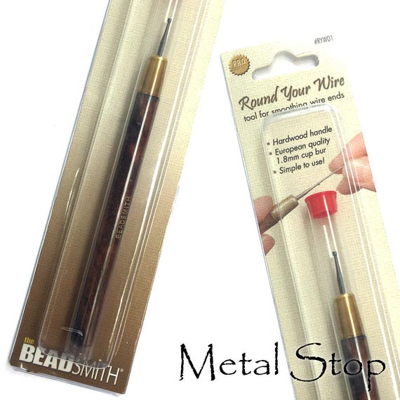 Round Your Wire Jewellers Tool Cup Burr for wire ends /& earrings 1.8mm
