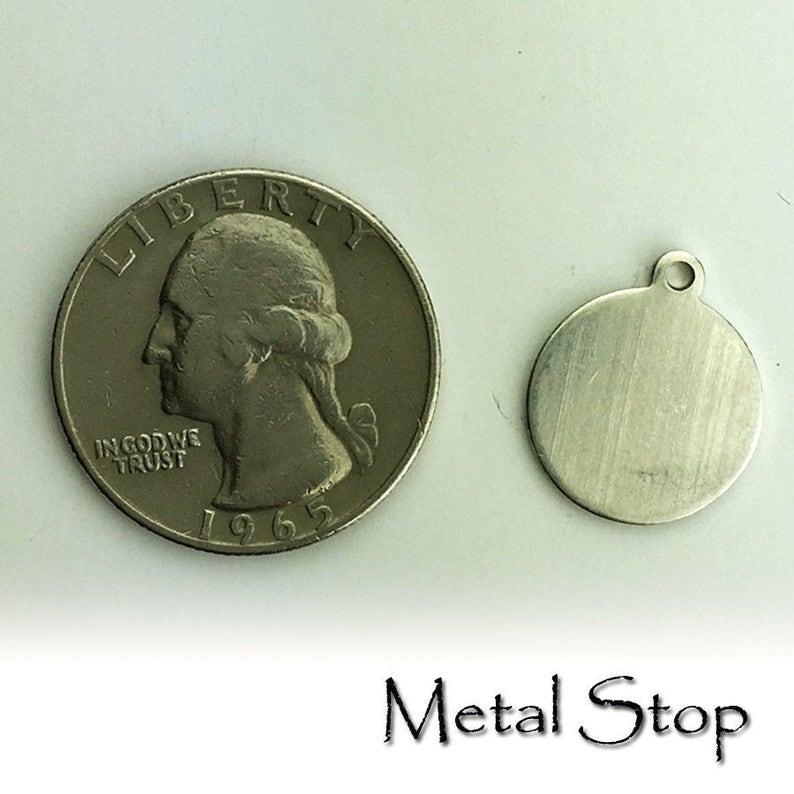 Tag Charm 20 Alkeme\u2122 Silver Stamping Blank 58 18 gauge