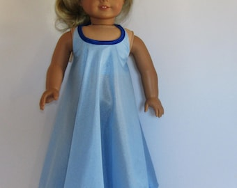 """Blue Maxi Halter Dress Fits American Girl Doll Clothes 18"""""""