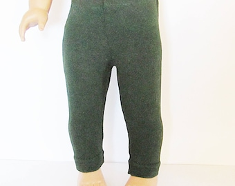 """Deep Forest Green Leggings Made to fit Dolls Like Gotz or American Girl -  Doll Clothes 18"""""""