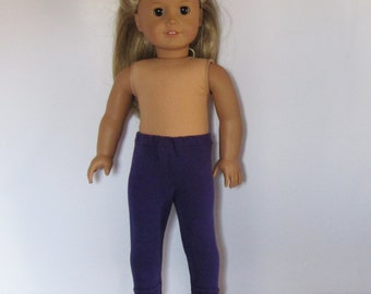 """Dark Purple Leggings Made to fit Dolls Like Gotz or American Girl -  Doll Clothes 18"""""""