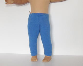 """Blue Leggings Made to fit Dolls Like Gotz or American Girl -  Doll Clothes 18"""""""