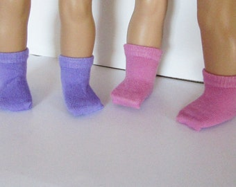 Two Pair of Crop Socks  made to fit 18 inch American Girl Doll Clothes