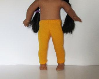 """Gold Leggings Made to fit Dolls Like Gotz or American Girl -  Doll Clothes 18"""""""