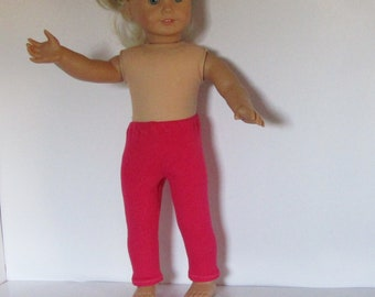 """Pink Fuchsia Leggings Made to Fit Dolls Like Gotz or American Girl - Doll Clothes 18"""""""