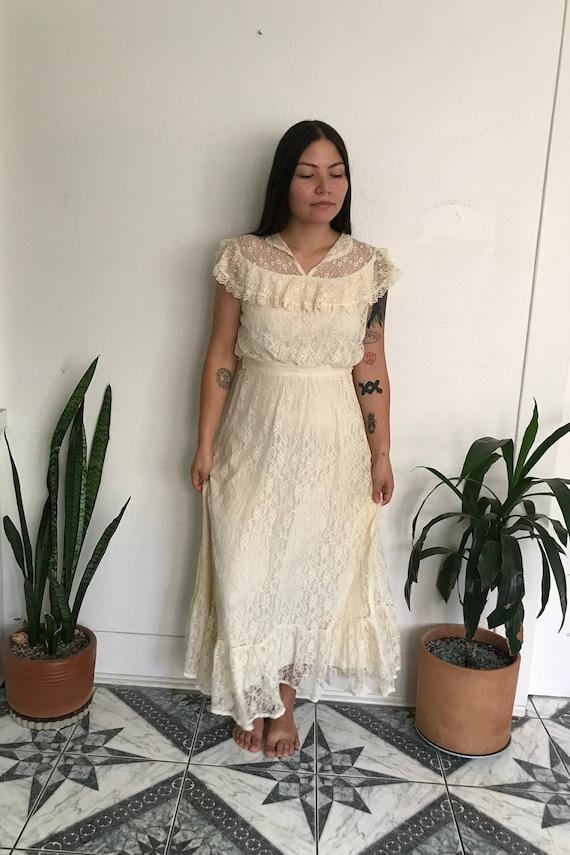 Gunne Sax Lace Dress Small