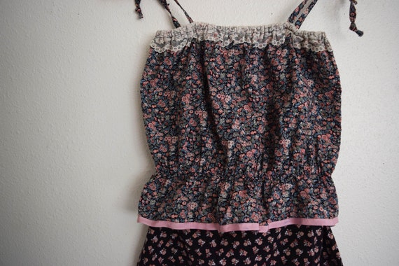 Oops California Skirt and Top Calico Set