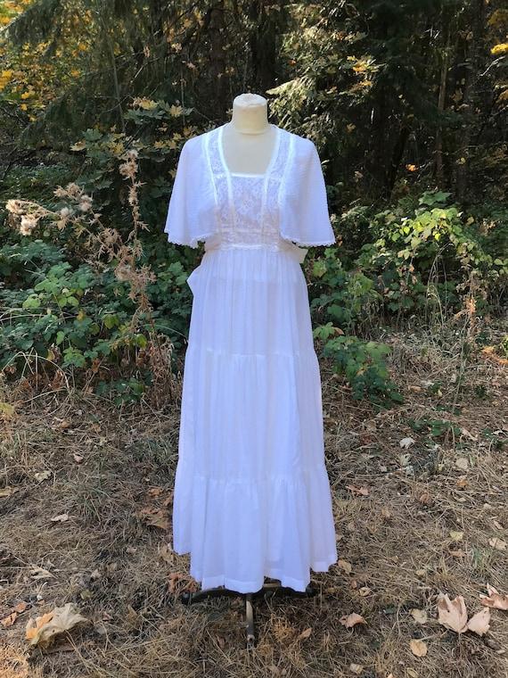 Vintage Jody T Maxi White Dress