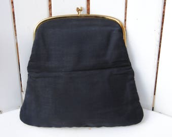 Vintage 1960's INGBER Fold Over Oversized Clutch Handbag