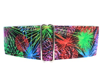 4th of July Martingale Dog Collar, Fireworks Martingale Collar, 4th of July Dog Collar, Fireworks Dog Collar, Independence Day, Greyhound