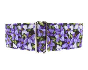 Purple Martingale Dog Collar, 2 Inch Martingale Collar, Floral Martingale Collar, Purple Dog Collar, 1.5 Inch Dog Collar, Floral Dog Collar