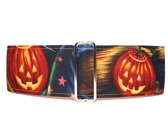 Halloween Martingale Collar, 2 Inch Martingale Collar, Pumpkin Martingale Collar, Halloween Dog Collar, Pumpkin Dog Collar