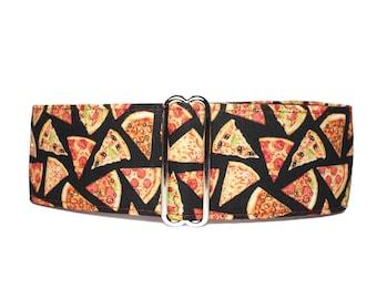 Pizza Martingale Dog Collar, Pizza Dog Collar, Food Martingale Collar Greyhound, Novelty Dog Collar, Large Dog Collar