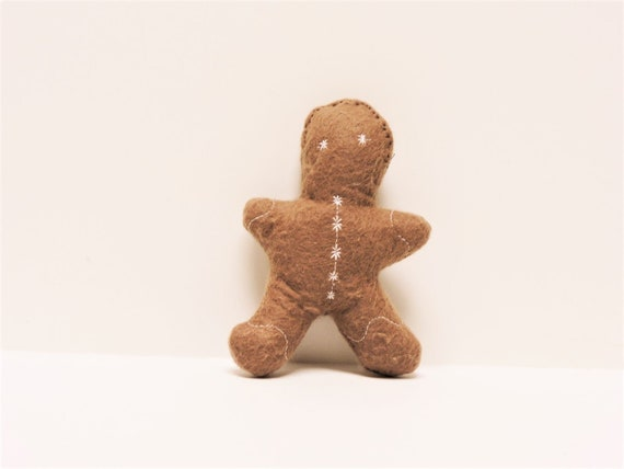 Soft Mini Durable Non Squeaky Gingerbread Dog Toy TeacupExtra Small Size Dog Toy HolidayChristmas Dark Brown Gingerbread Man Dog Toy