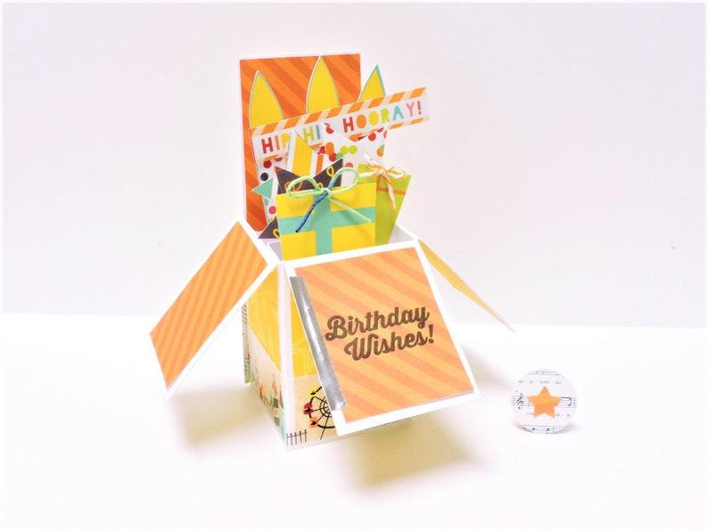 Custom Pop Up Birthday Carnival Card For Kids Gift
