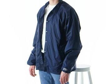 Navy Rain Jacket / Retro Sailor Vest / Light Nautical Wind Jacket