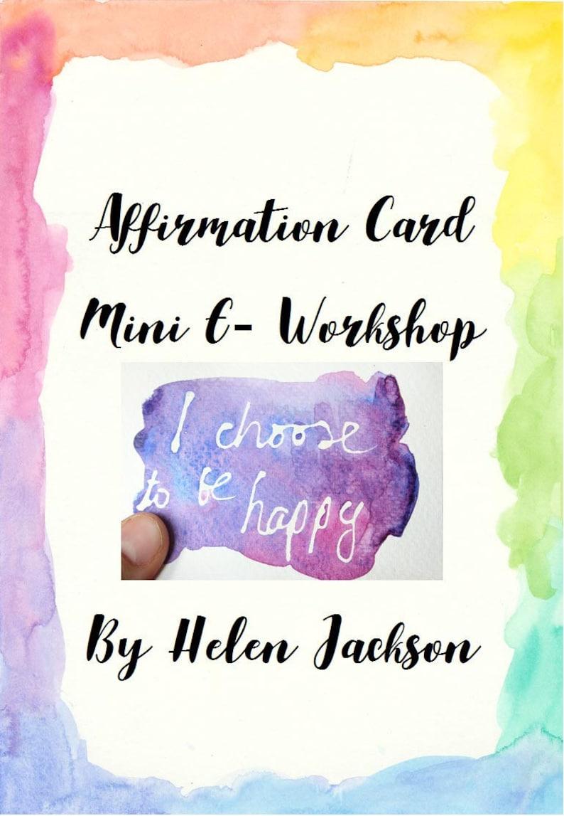 Positive Affirmation Card Mini E-Workshop image 0