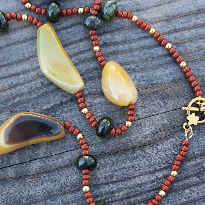 Golden Agate Necklace image 0