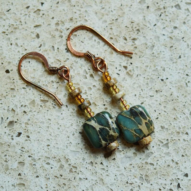 Aqua Terra Jasper & Copper Earrings image 0