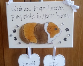 Beware Of The Guinea Pig,Rabbit Hutch,Christmas Gift,door sign funny sign