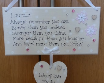 Personalised Friendship sign Plaque Best Friend Gift  Heart Plaque P270