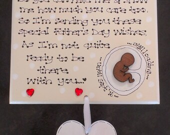 personalised new baby daddy to be poem pregnant bump fathers day gift plaque d1 exclusive