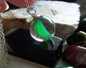 Green Cat 39 s Eye Banana Vintage Marble Pendant