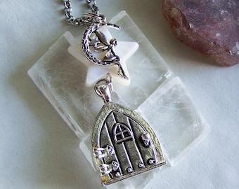 c9e148b16707 Faery Wish Door Mother of Pearl Star Pendant Necklace