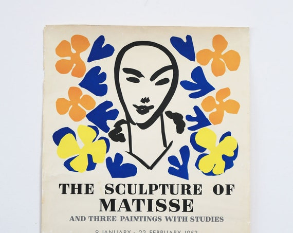 Matisse Tate Gallery Original Exhibition Lithograph