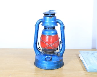 Vintage Railroad, Oil Lantern in blue #2 AGS