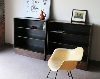 Pair of Early Herman Miller Bookcases by Gilbert Rhodes