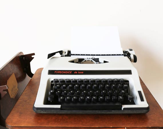 Vintage Typechoice de luxe typewriter made in italy