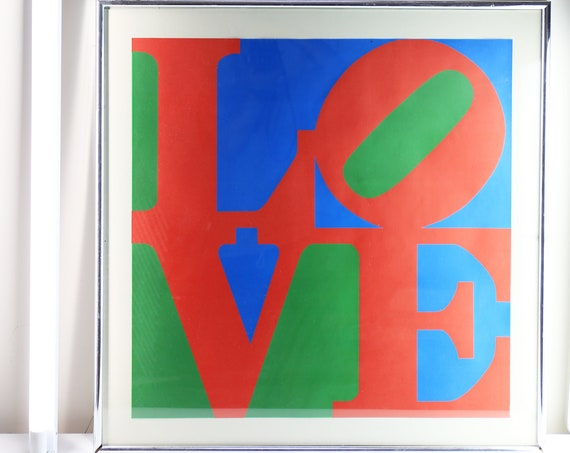 Robert Indiana LOVE Silkscreen - Framed