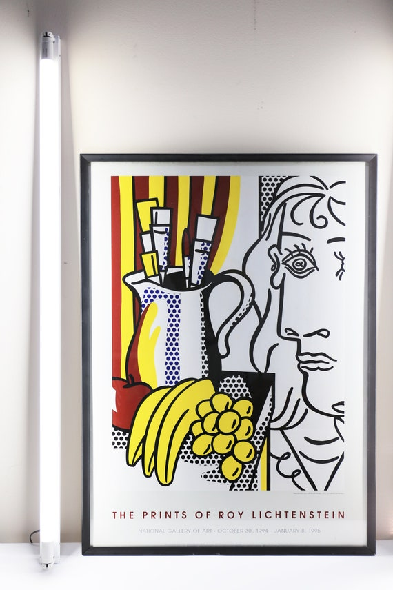 Original Roy Lichtenstein Exhibition Lithograph 1994 - Framed