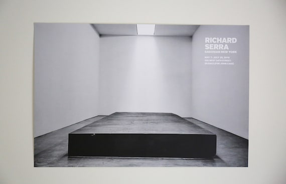 Original Richard Serra - Silence For John Cage Gagosian Exhibition Offset Lithograph