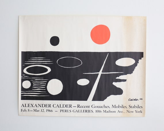 Alexander Calder Exhibition Signed Lithograph 1965