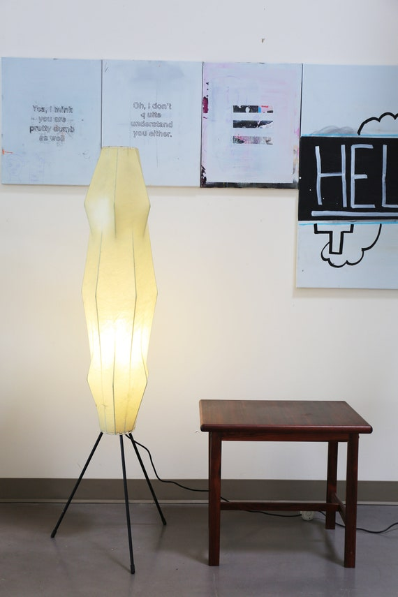 Early Fantasma FLOS resin floor lamp with tripod legs