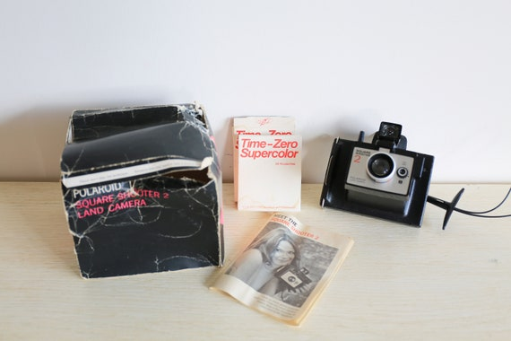 Vintage Polaroid Square Shooter 2 Camera with Manual
