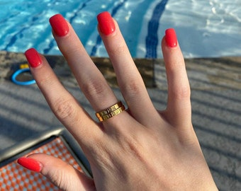 Stainless Steel Ring, Custom Rings, Name Ring, Personalized Rings, Rings For Women, Mothers Ring, Ring For Women, Customized Rings, Stacking