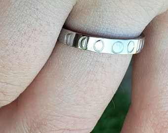 Moon Phase Ring Rose Silver Gold Ring Moon Phase Ring Stack Ring Moon Phases Ring Silver Moon Phases Rose Moon Phases Gold Moon Phases Ring