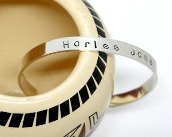 Custom Personalize Cuff Bracelet. Quote Cuff. Custom Gift. Personalize Bracelet. Custom Name Bracelet. Personalize Sterling. Silver Bracelet