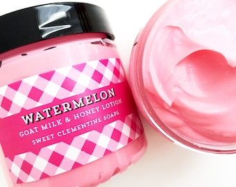 Watermelon Lotion, Body Butter, Hand and Body Cream, Moisturizer, Melon, Honeydew, Mango, Papaya