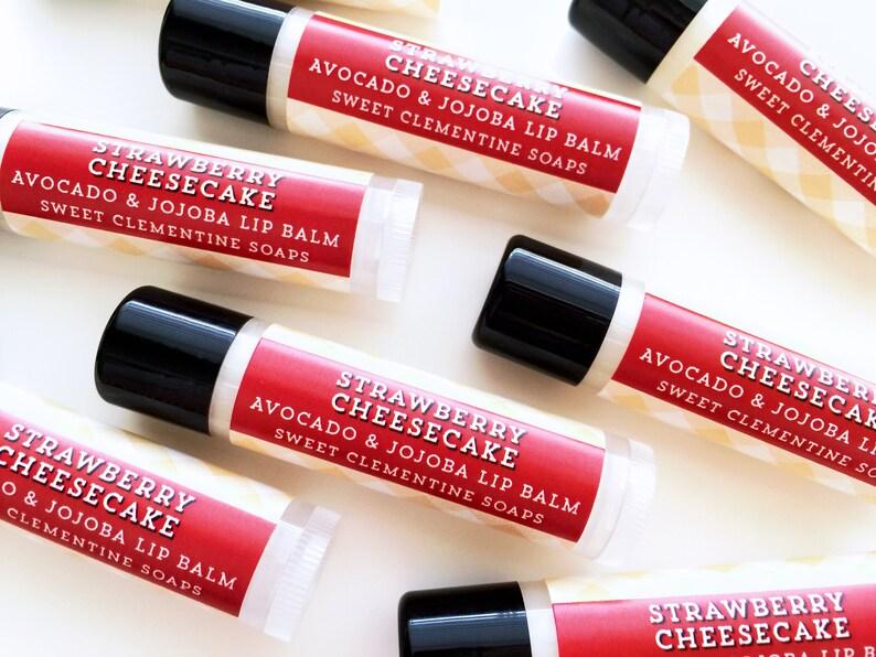 Strawberry Cheesecake Lip Balm Lip Gloss Moisturizing image 0