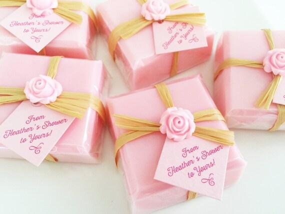 Bridal Shower Soap Favors Pink Favor Soaps Baby Shower Etsy