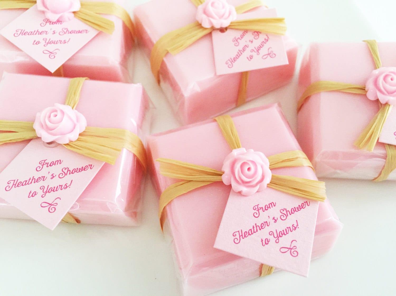 Bridal Shower Soap Favors Pink Favor Soaps Baby Shower | Etsy