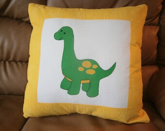 Dinosaur appliqued  pillow