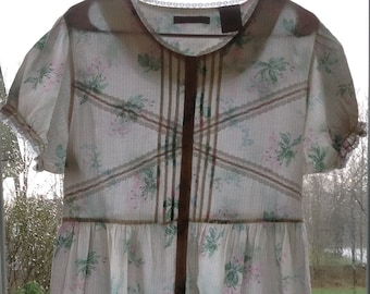 Laura Ashley vintage short floral nightgown